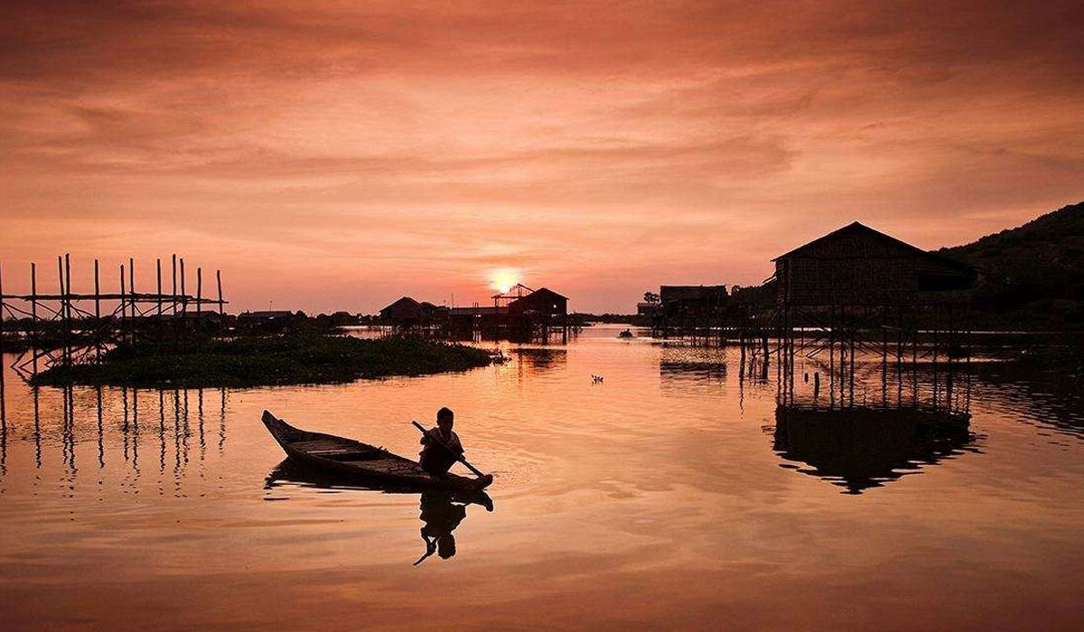 Sunset At Floating Village
