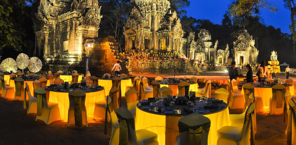 Temple dining setup