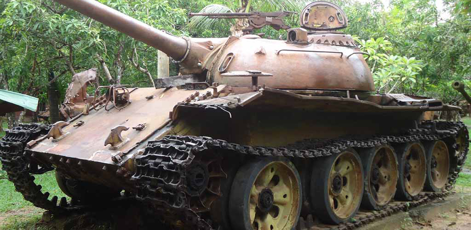 War museum cambodia artillery